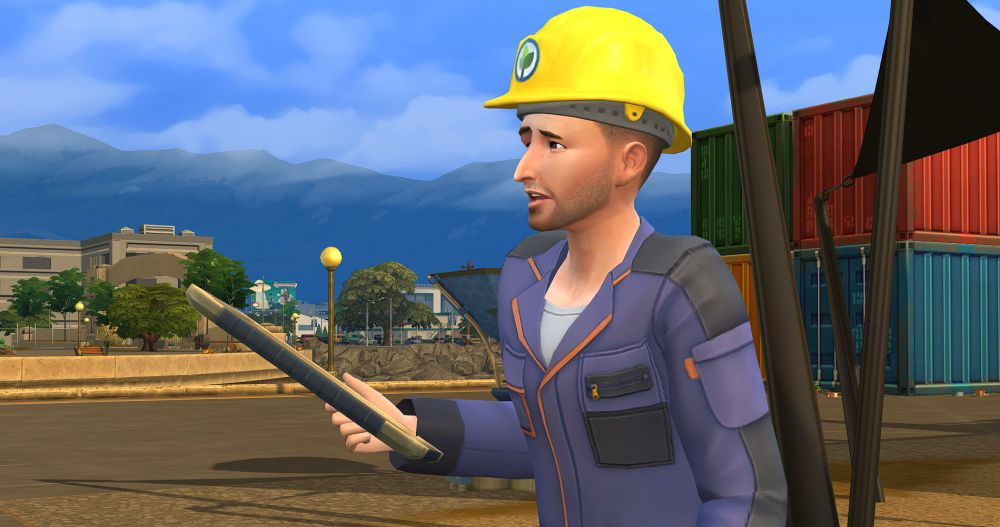 A Green Technician in The Sims 4 Eco Lifestyle