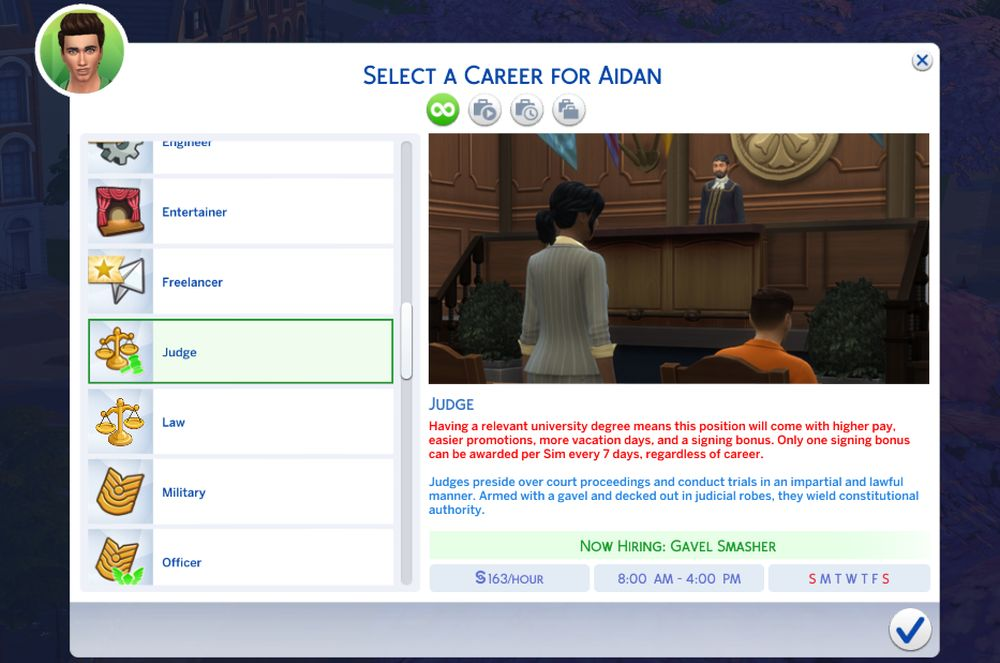 Getting career benefits for a degree with honors in The Sims 4 Discover University Cheats