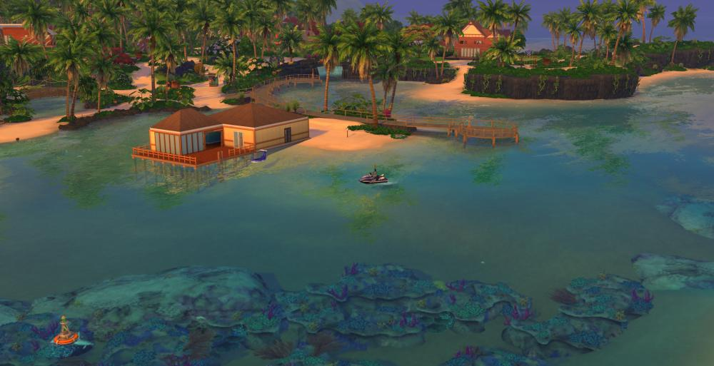 A beautiful screenshot of Sulani in The Sims 4 Island Living Expansion that I chose for my review of the pack