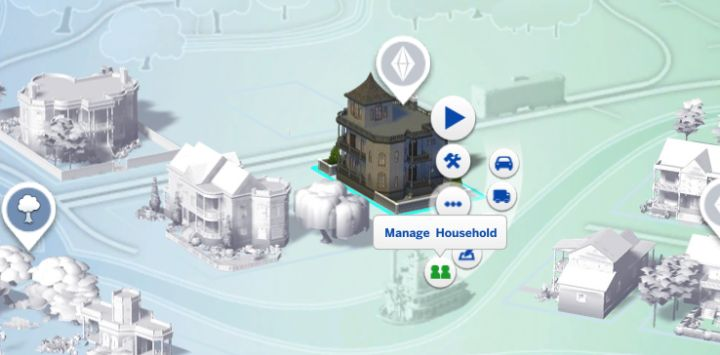 How to move sims in the sims 4 carls guide now select the home of the sim youd like to move out click the button and select manage household gumiabroncs Choice Image