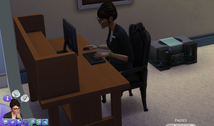 Very Focused in Sims 4