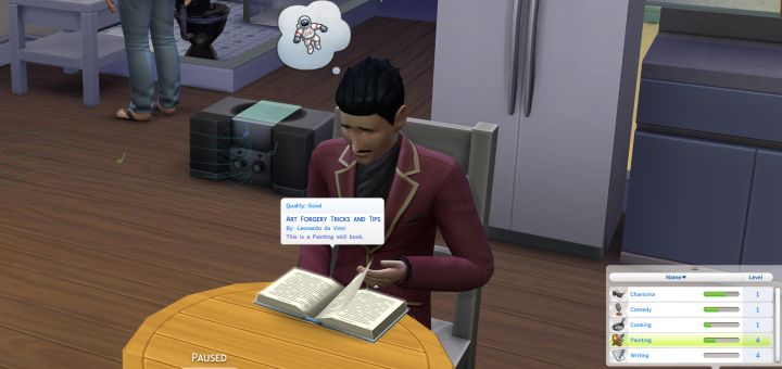 Mortimer Goth Reading a Skill Book
