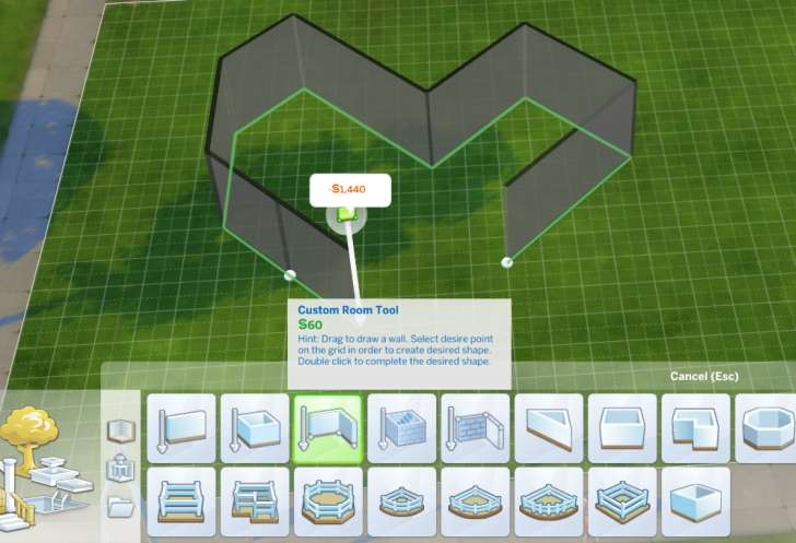 Sims 4 Building How-To's: custom room tool