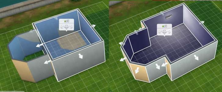 Sims 4 Building How-To's: adding a wall and rmoving it combines two rooms