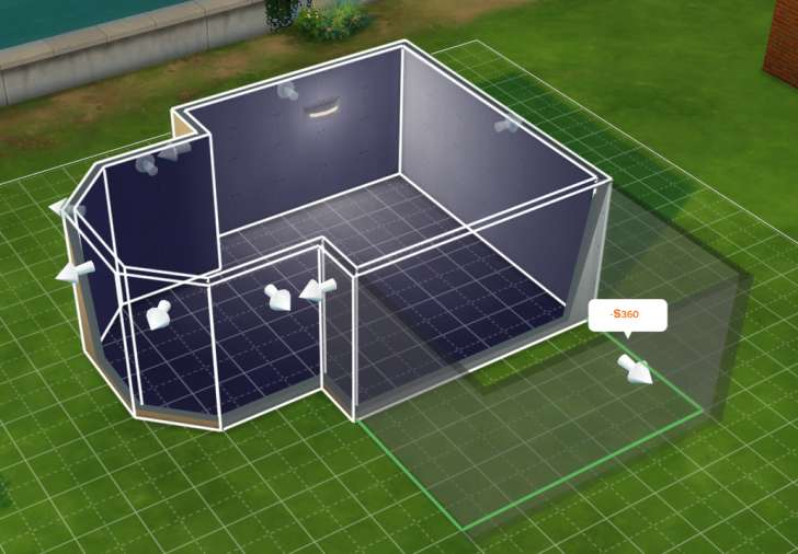 Sims 4 Building How-To's: pull or push to move the wall in or out and resize the room
