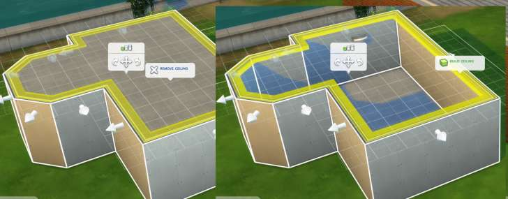 Sims 4 Building How-To's: removing or adding a ceiling