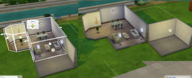 Sims 4 Building How-To's: move an entire room anywhere on the lot