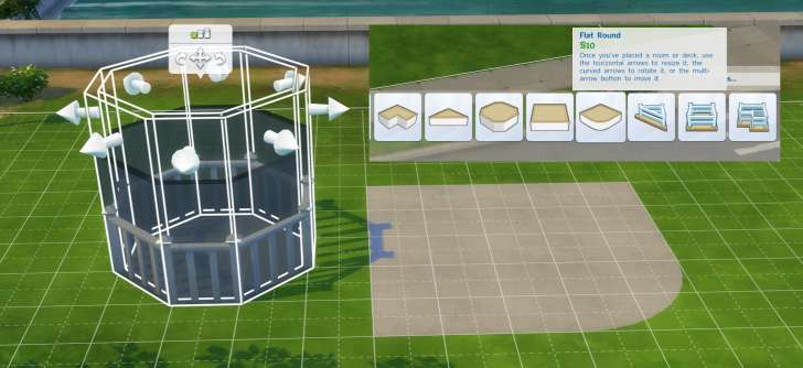 Sims 4 Building How-To's: rooms can be decks with or without fences