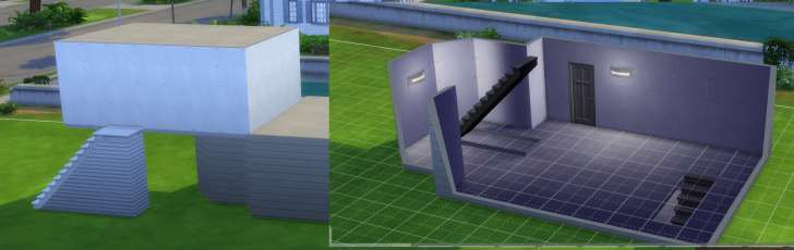 Sims 4 Building How-To's: stairs can be added indoors or outdoors