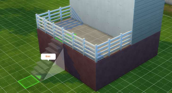 Sims 4 Building How-To's: stairs need to be placed
