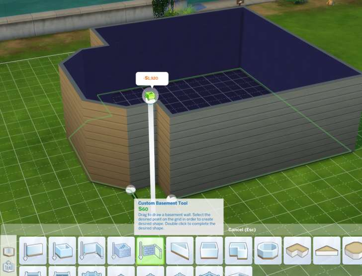 Sims 4 Building How-To's: use the custom basement tool