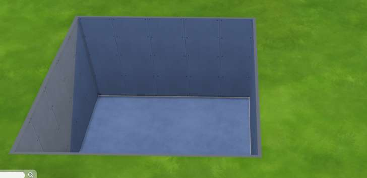Sims 4 Building How-To's: remove the ceiling from a basement to make an open pit in the yard