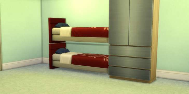 Sims 4 Building How-To's: make cosmetic bunk beds
