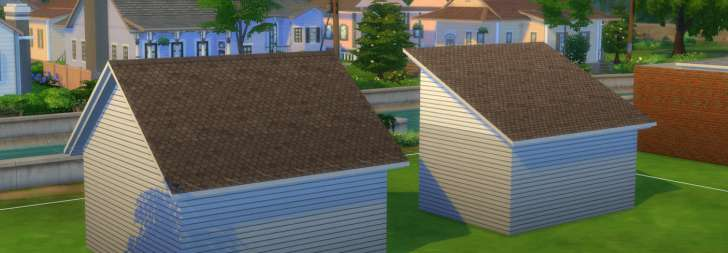 Sims 4 Building How-To's: gable and half gable roof