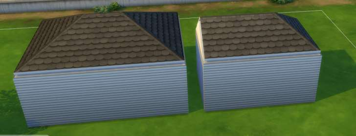 Sims 4 Building How-To's: hipped and half hipped roof