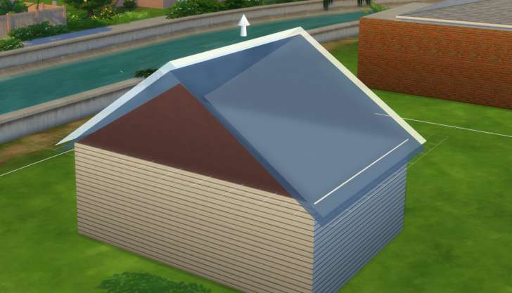 Sims 4 Building How-To's: adjust the height of the roof
