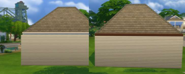 Sims 4 Building How-To's: roof with and without trim