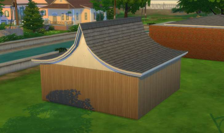 Sims 4 Building How-To's: pagoda roof