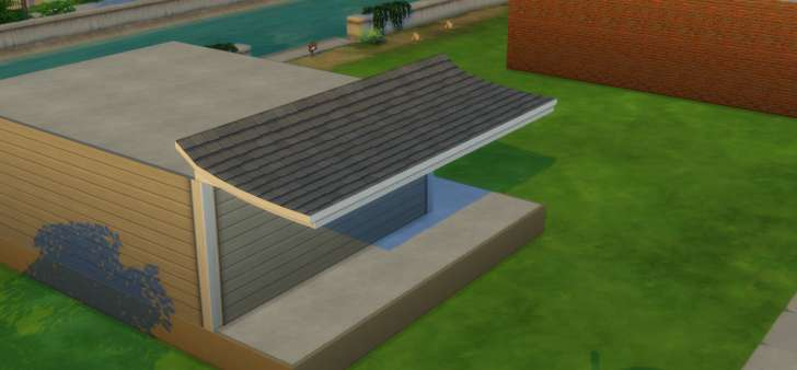 Sims 4 Building How-To's: awning styled roof