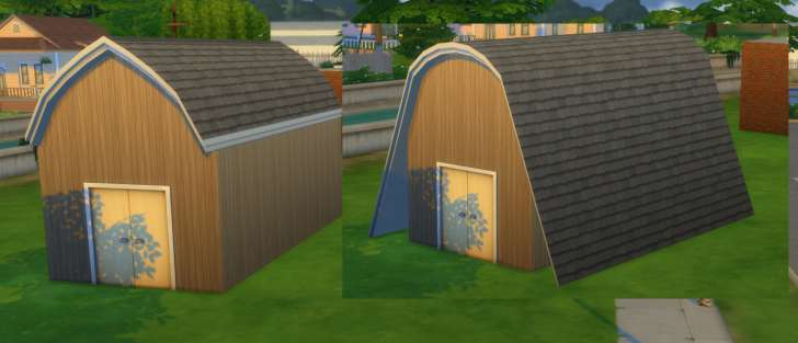 Sims 4 Building How-To's: gambrel and barn roof