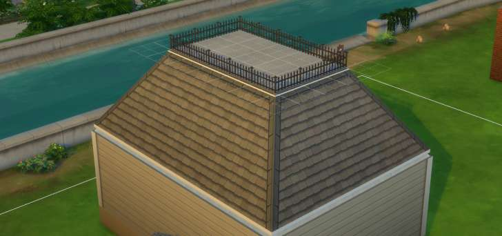 Sims 4 Building How-To's: clearstory roof