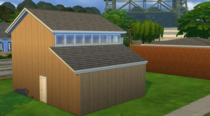 Sims 4 Building How-To's: clearstory roof 2