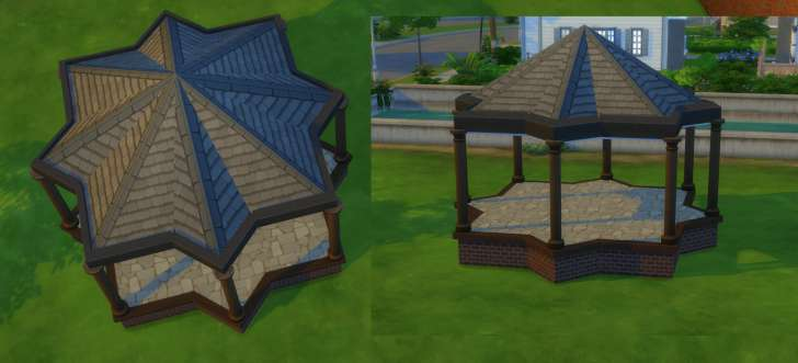 Sims 4 Building How-To's: almost round roof