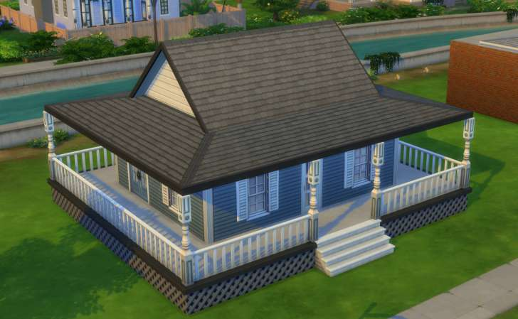 Sims 4 Building How-To's: full wrap-around porch roof