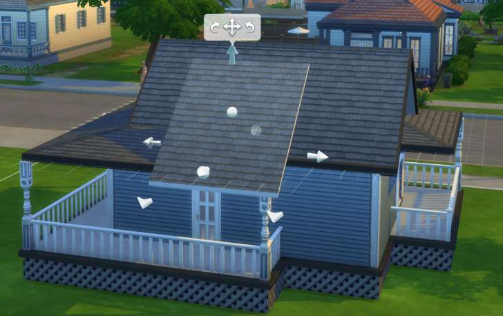 Sims 4 Building How-To's: trimming the roof