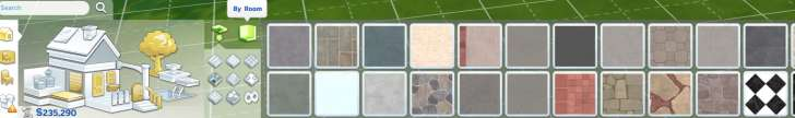 Sims 4 Building How-To's: Apply floor patterns by tile or by room