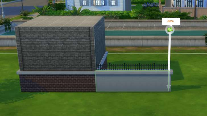 Sims 4 Building How-To's: fences can have foundations