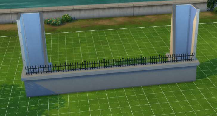 Sims 4 Building How-To's: build a higher fence between two rooms