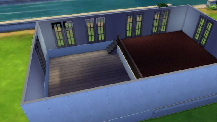 Sims 4 Building How-To's: Windows allow light into the lower area