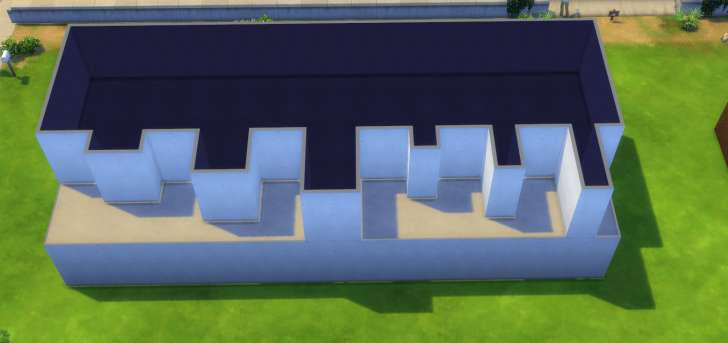 Sims 4 Building How-To's: gable roof on the upper level. tutorial.