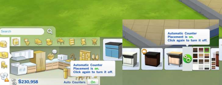 Sims 4 Building How-To's: automatic counter placement off