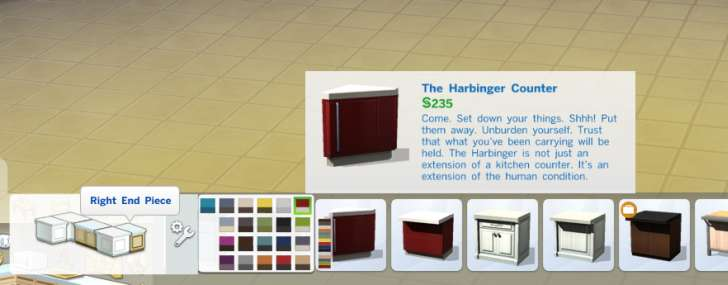 Sims 4 Building How-To's: auto counters off allows more choices