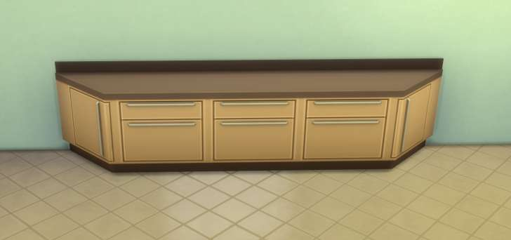 Sims 4 Building How-To's: counter with corner ends