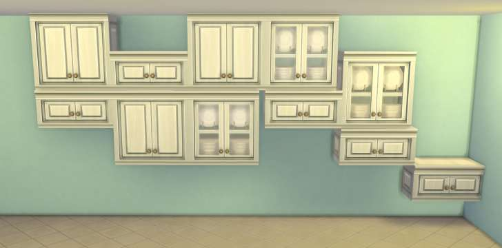 Sims 4 Building How-To's: tiling cabinets