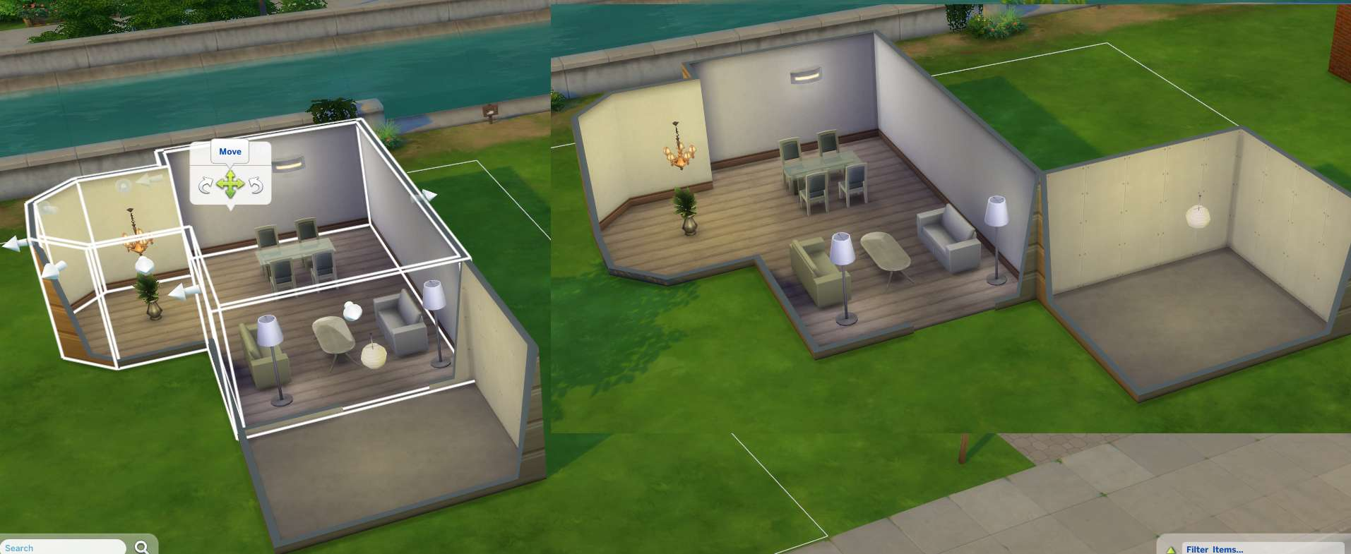 Sims 4 build mode tutorials for houses and landscaping for How to start building a house