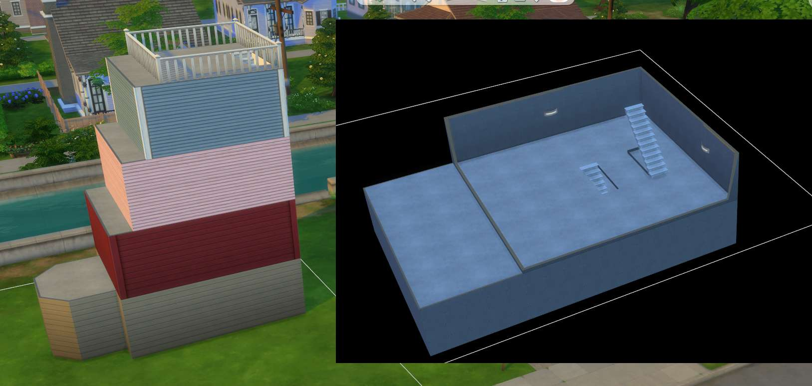 The Sims 4 Building: Stairs and Basements