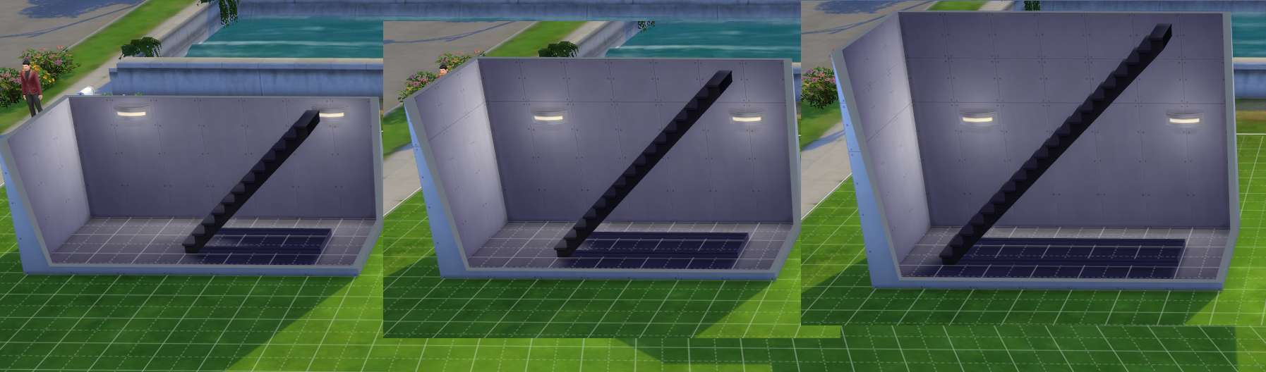 Hiding stair under the balcony - Sims 4 Building How To S Higher Walls Require More Space For The Stairs