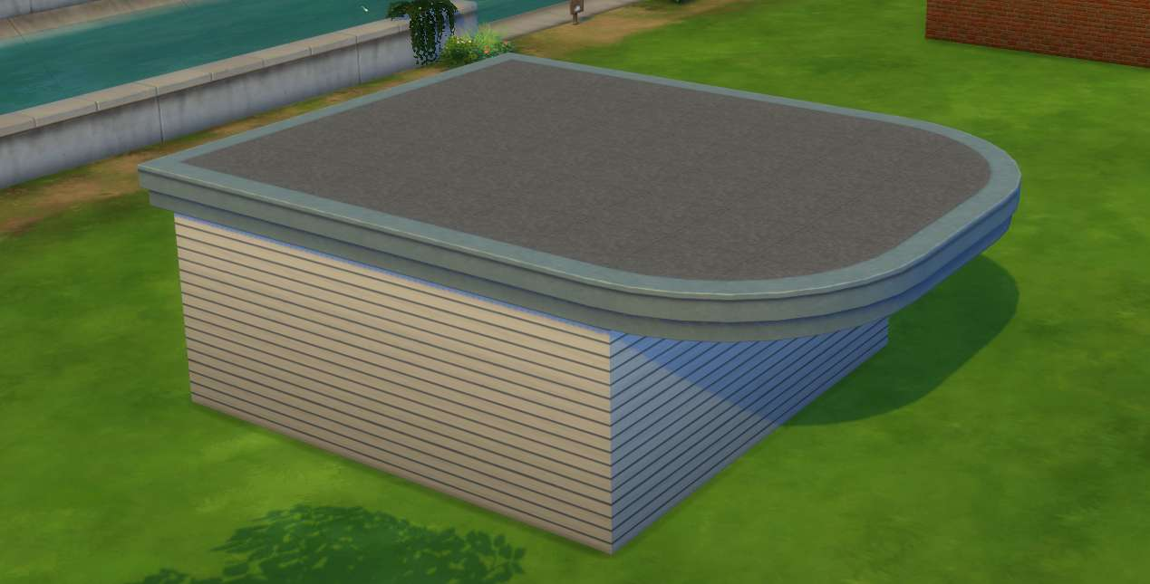 Sims 4 Building How To S Empty Room With Wall Trim Makes An Interesting Roof