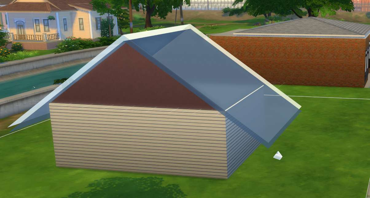 Building eaves on a house
