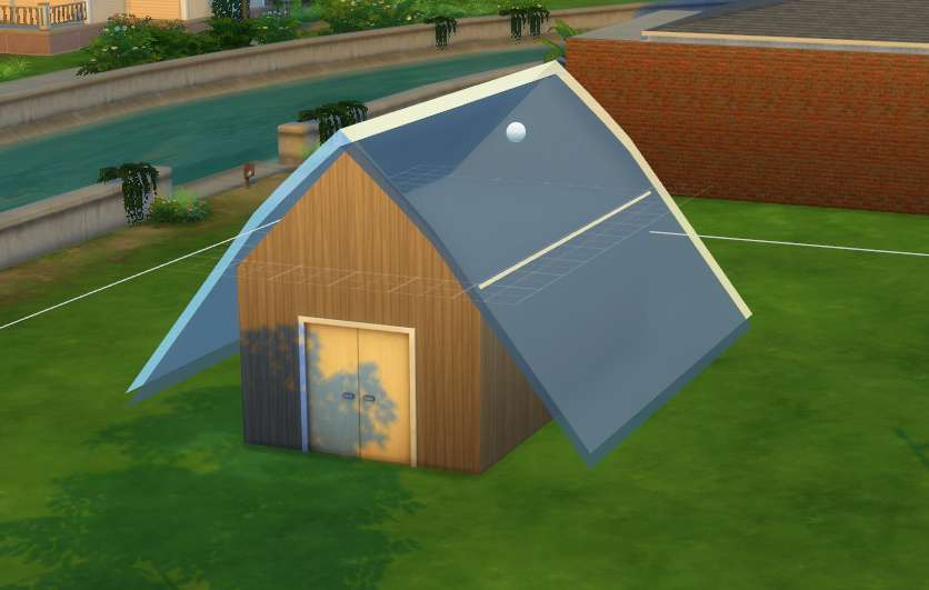 Gablet roof for Premade roof