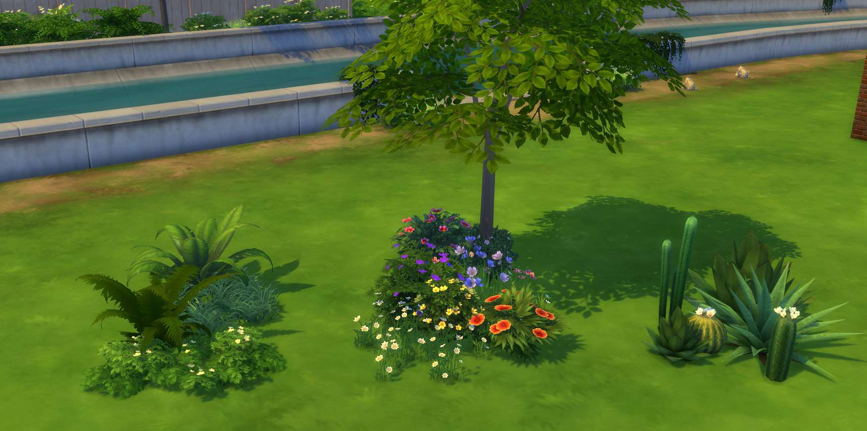 The sims 4 building landscaping pools indoor outdoor for Outside landscape