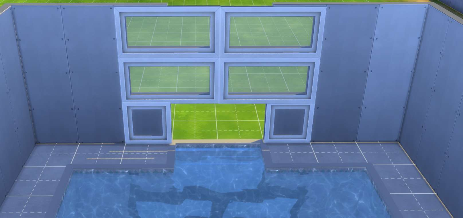 The sims 4 building landscaping pools indoor outdoor for How to build an indoor pool