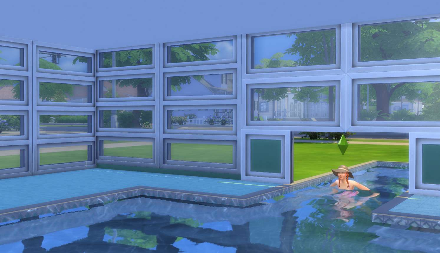 The sims 4 building landscaping pools indoor outdoor for Pool design sims 3