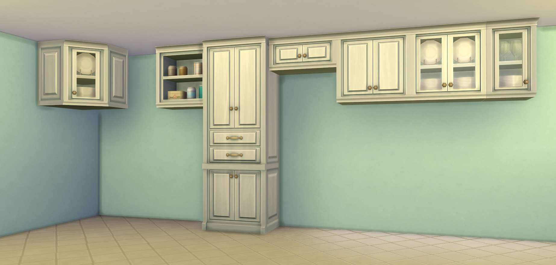 Building In The Sims  Half Cabinets