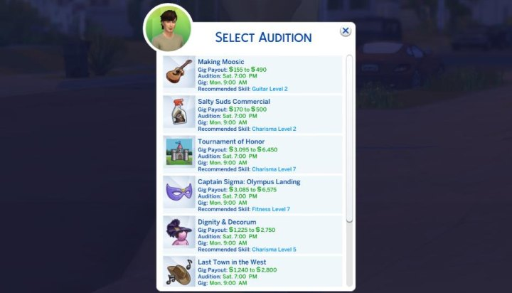 The Sims 4 Actor Career in Get Famous - finding a gig for my actor to make money