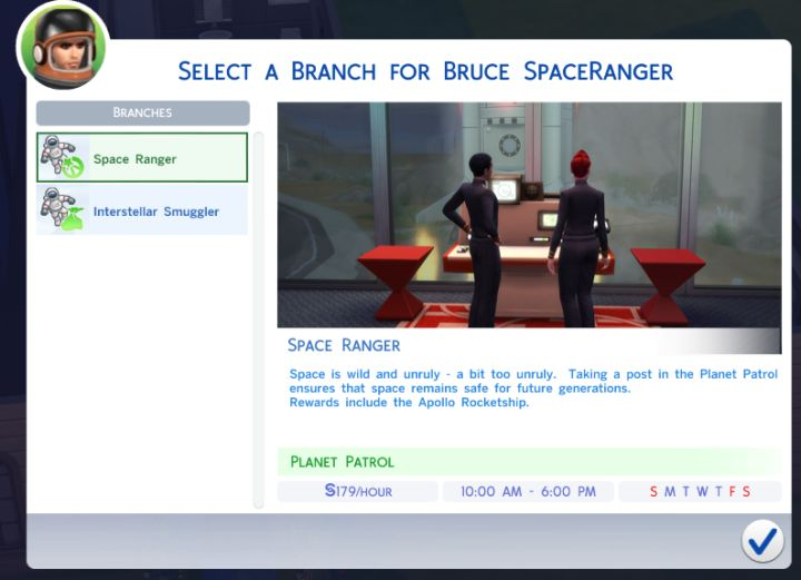 The Sims 4 Astronaut Career
